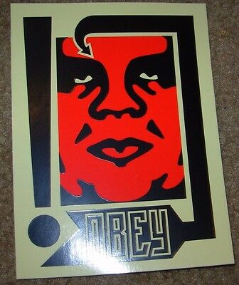 """SHEPARD FAIREY Obey Giant Sticker 4 X 5.5"""" RED OG ANDRE from poster print"""