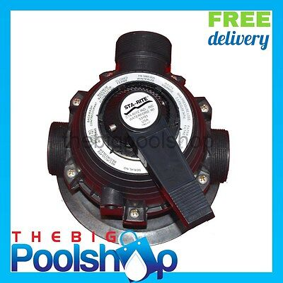 ONGA Starite Pool Filter MPV Multi Port Valve Complete 40mm P25 - P21