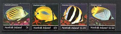 Norfolk Island Mnh 1995 Sg591-594 Sg591-594 Butterfly Fishes Set Of 4