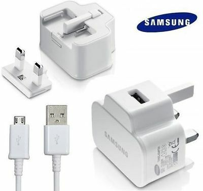 Genuine Samsung Galaxy S4 S2 S3 S5 Mini Note 2 Mains Usb Wall Charger