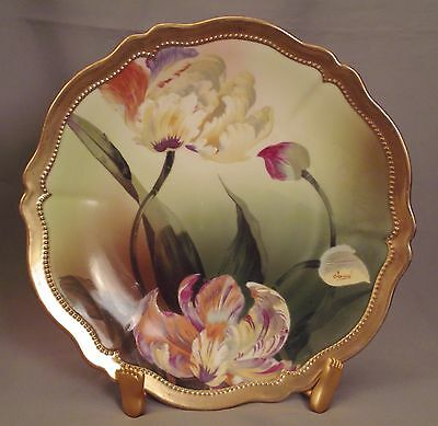 """O&E.G. Royal Austria HP Plate Orchidees Signed Tamm - 9 1/2"""""""