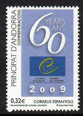 ANDORRA (SPAIN) MNH 2009 The 60th Anniversary of the Council of Europe