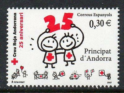 ANDORRA (SPAIN) MNH 2007 25th Anniversary of Andorra Red Cross