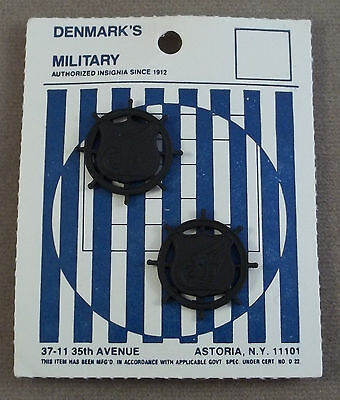 US Army Transportation Corps Officer Vintage Subdued Collar Branch Insignia NOS