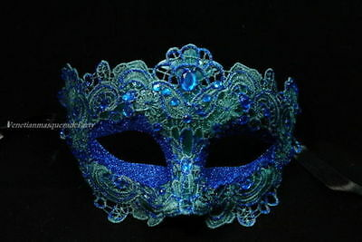 Masquerade Venetian Brocade Crystals Halloween Christmas Costume Party Lace Mask