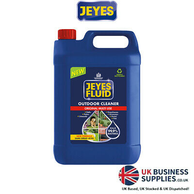 Jeyes Fluid 5L Multi Purpose Disinfectant Outdoor Cleaning Kennel 5 Ltr New Tin