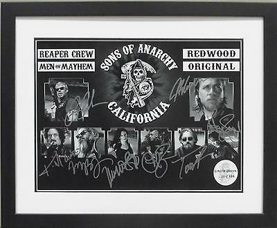 Sons Of Anarchy Cast 4 Signed Limited Edition Framed Memorabilia