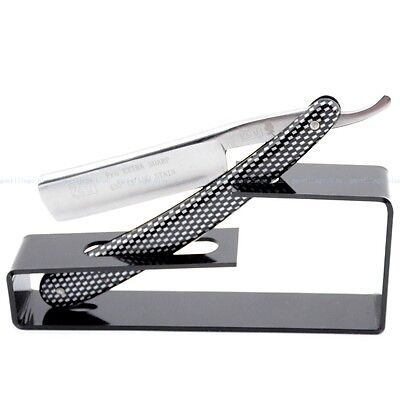 ZY XIA Shaving Straight Razor Cut Throat Sharpened W/ Acrylic Stand Display Show
