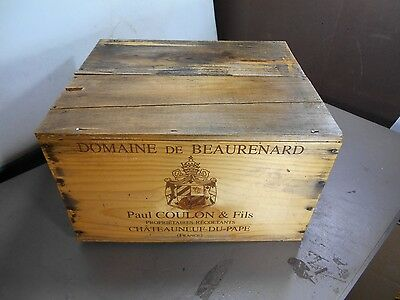 "VINTAGE   WINE CRATE BOX CASE-""WINE CELLAR""-ORIGINAL Domaine De Beaurenard"