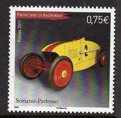 ANDORRA (FRENCH) MNH 2011 Antique Racecars