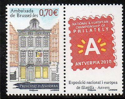ANDORRA (FRENCH) MNH 2010 Buildings - Belgian Embassy
