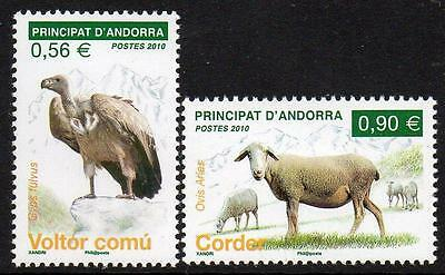 ANDORRA (FRENCH) MNH 2010 Local Fauna - Griffon Vulture & Sheep