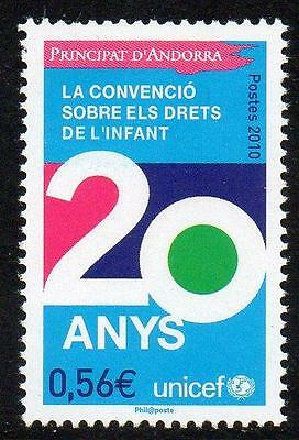 ANDORRA (FRENCH) MNH 2010 20th Anniversary of the Convention of the Rights of th