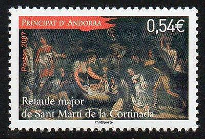 ANDORRA (FRENCH) MNH 2007 Christmas