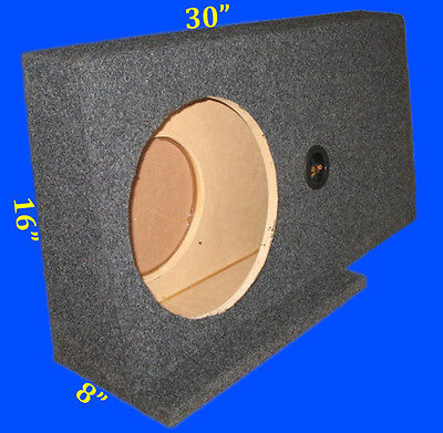 """Ford F150 Supercrew 2004-08 Sin 12"""" Drivers Side Grey Subwoofer Enclosure Box"""