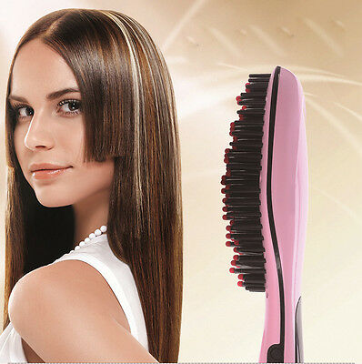 Upgraded Digital Hair Straightener brush - one year warranty .USA seller,
