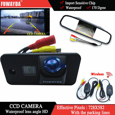 Wireless 4.3'' CCD Monitor Reverse Camera for AUDI S3 A4 S4 A6 S6 A8 S8 RS6 Q7