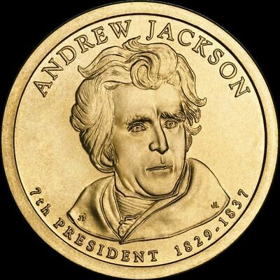 "2008 P Andrew Jackson Presidential Dollar ""Brilliant Uncirculated"" US Mint Coin"