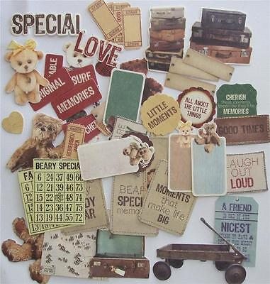 ~ Teddy Bears Picnic ~ COLLECTABLES 50+ Die Cut Shapes Scrapbooking Cardmaking