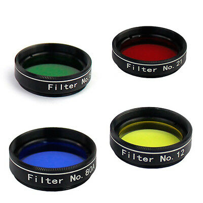 """1.25"""" 4 Nebula Color Filter Set for Astronomical Telescope Ships from USA"""