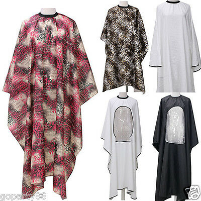 Unisex Adult Hairdressing Cutting Cape Cloth Cover Hair Salon Barbers Gown GP