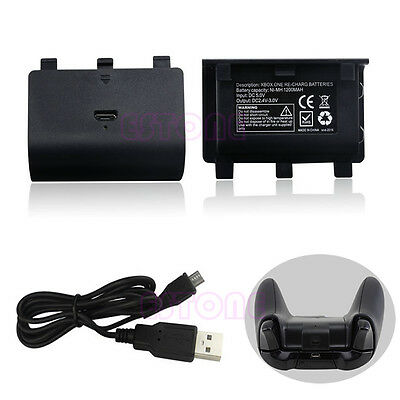 New NI-MH 8800MAH Charger Kit USB Cable + Rechargeable Battery Pack For Xbox One