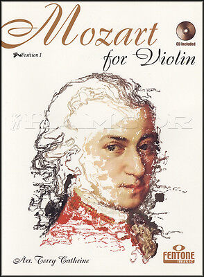 Wolfgang Amadeus Mozart for Violin Sheet Music Book with CD Position 1