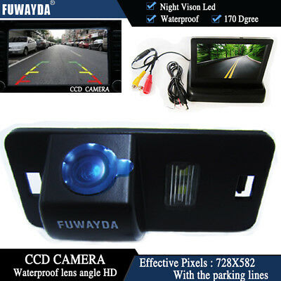 4.3'' Foldable  CCD Monitor Reverse Camera for  BMW 1/3/5/6 Series X3 X5 X6 E39