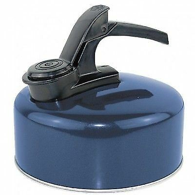 Royal 1.2 Litre Lightweight Aluminium Whistling Camping Outdoor Kettle Blue