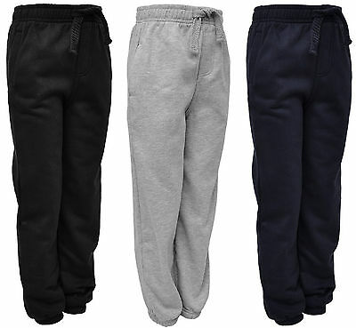 Kids Jogging Bottoms Boys Girls Joggers Jog Pants Ex Store 2-12 Years Bnwt