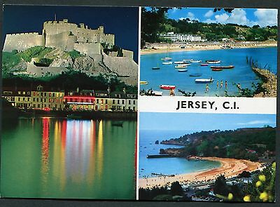 C1990's Multiviews of Jersey - Castle, Boat, Beaches