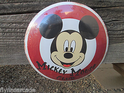 Disney Mickey Mouse Club Button Metal Sign Display disneyland cool Large World