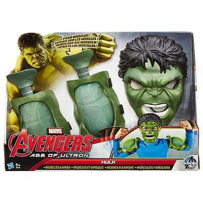 Avengers Age of Ultron Incredible Hulk Push Muscles and Mask Fancy Dress Up