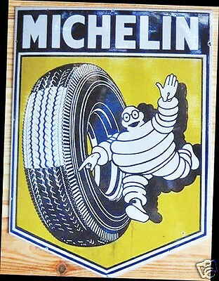 VINTAGE STYLE RETRO METAL PLAQUE MICHELIN Tyre Ad/Sign
