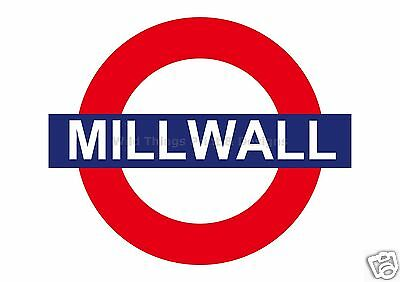 RETRO METAL PLAQUE : MILLWALL TUBE/Football SIGN sign/ad
