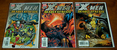 X-Men: Deadly Genesis #1 #2 #3 Marvel Limited Series VF/NM Condition!!