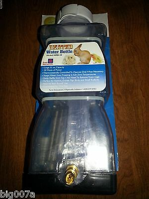 Farm Innovators Heated Electric Rabbit Small Animal Water Bottle. Model HRB-20