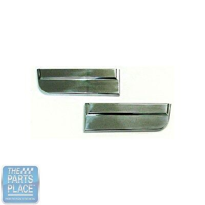 1966 Nova Front Fender Lower Moldings SS - High Polished Aluminum - Pair