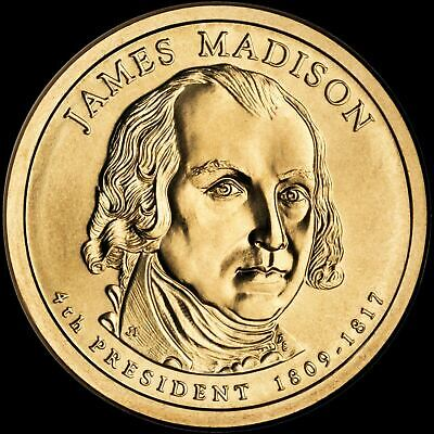 "2007 D James Madison Presidential Dollar ""Brilliant Uncirculated"" US Mint Coin"