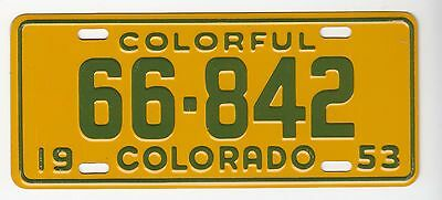 [57477] 1953 General Mills Cereal Prize Colorful Colorado License Plate