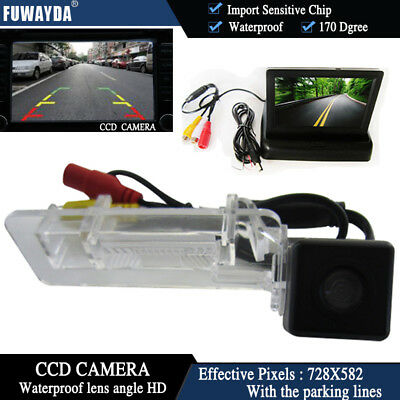 4.3'' Foldable  CCD Monitor Reverse Rear View  Camera for Benz SMART R300 R350