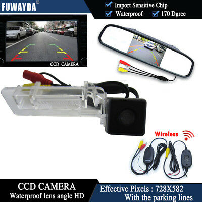 Wireless 4.3'' CCD Monitor Reverse Rear View Camera for Benz SMART R300 R350