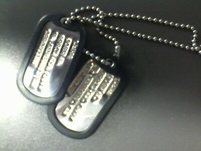 Military Dog Tags/Custom Made with WWII Machine