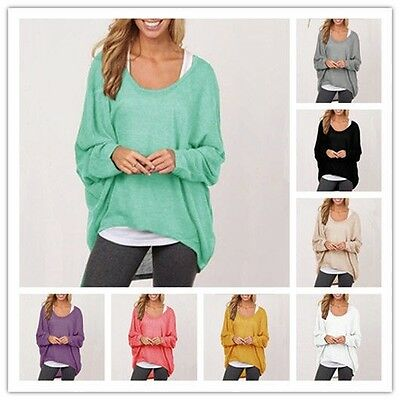 Women's Fashion Long Sleeve Solid Loose Tops Casual Spring Winter Shirt Blouse