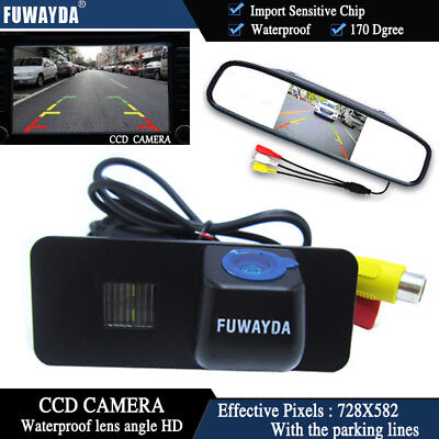 4.3'' Mirror Monitor CCD Reverse Camera for VW GOLF 4 5 6 MK4 MK5 EOS BEETLE