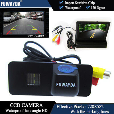 4.3'' Foldable  CCD Monitor Reverse Camera for VW GOLF 4 5 6 MK4 MK5 EOS BEETLE