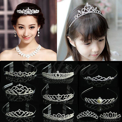 Wedding Bridal Comb Tiara Crown Rhinestone Pageant Prom Crystal Hair Headband