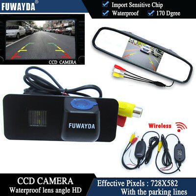 Wireless 4.3'' CCD Monitor Reverse Camera for VW GOLF 4 5 6 MK4 MK5 EOS BEETLE