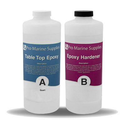 Crystal Clear Bar Table Top Epoxy Resin Coating For Wood Tabletop 1/2 Gallon Kit
