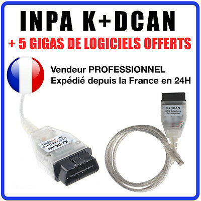 INPA EDIABAS K+DCAN D-CAN OBD2 OBDII USB Interface Diagnostic Cable outi BMW